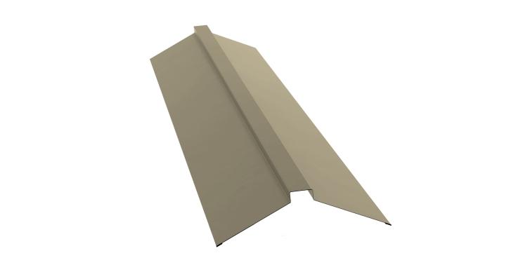 Планка конька плоского 115х30х115 0,5 Satin с пленкой RAL 1015