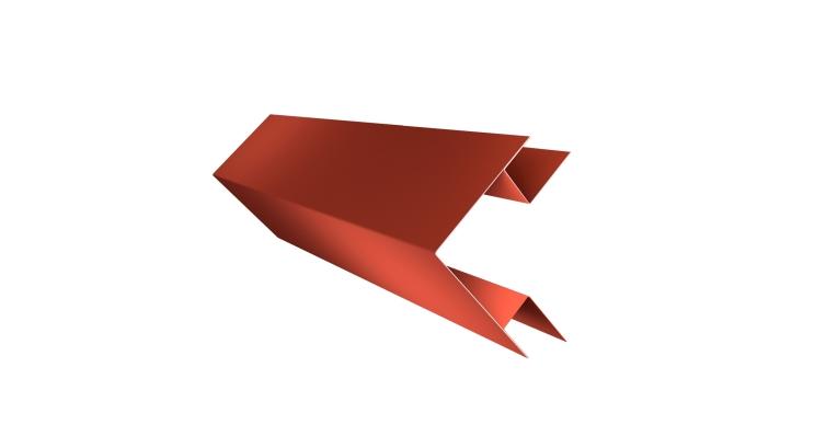 Планка угла внешнего сложного Экобрус 0,5 Satin с пленкой RAL 8004
