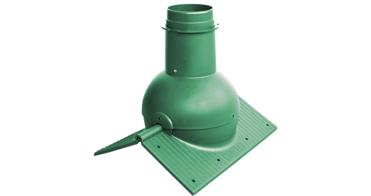 Коньковый элемент Krovent Pipe-Cone зеленый