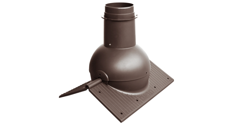 Коньковый элемент Krovent Pipe-Cone коричневый