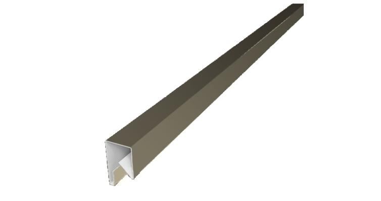 Планка П-образная заборная 17 0,45 PE с пленкой RAL 1015