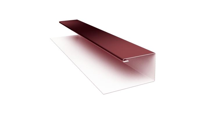 Планка П-образная Блок-хаус GL 0,45 PE с пленкой RAL 3005