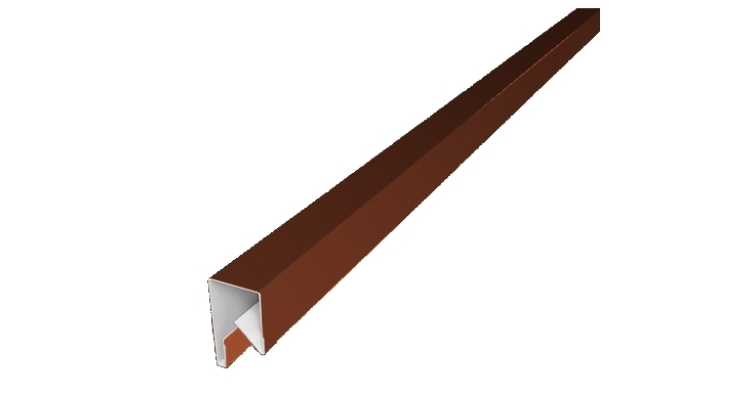 Планка П-образная заборная 17 0,5 Satin с пленкой RAL 8004