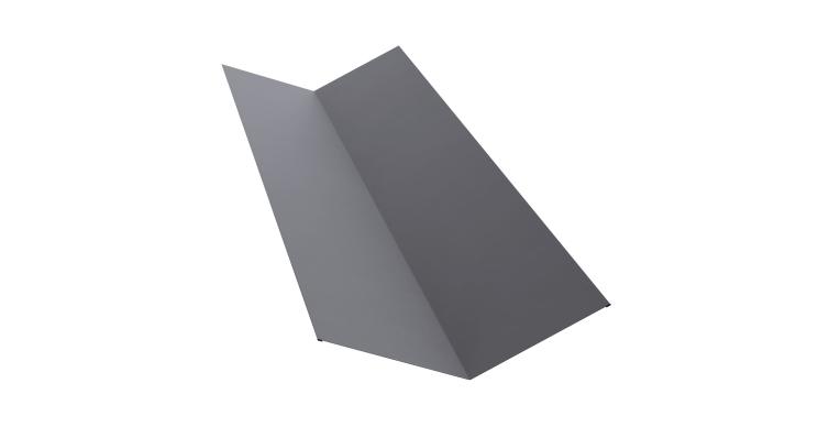 Планка ендовы верхней 145х145 0,5 Satin с пленкой RAL 7004
