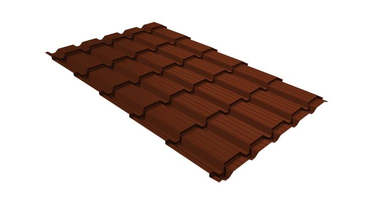 Металлочерепица квадро 0,45 PE RAL 3009