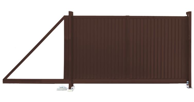 Ворота откатные Премиум 2,0х3,5 RAL 8017