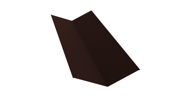 Планка ендовы верхней 145х145 0,5 Quarzit lite с пленкой RAL 8017