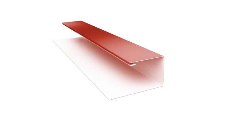 Планка П-образная Блок-хаус GL 0,45 PE с пленкой RAL 8004
