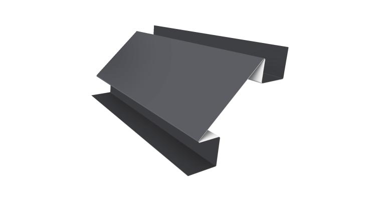 Угол внутренний сложный 75х75 0,45 PE с пленкой RAL 9006