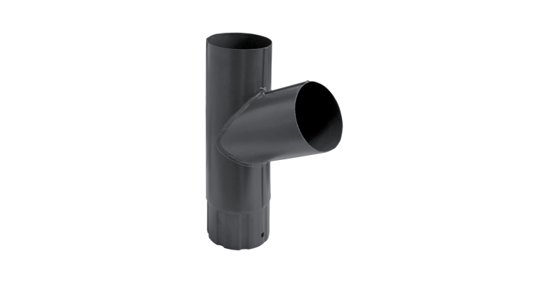 Тройник трубы,90 мм RAL 7024