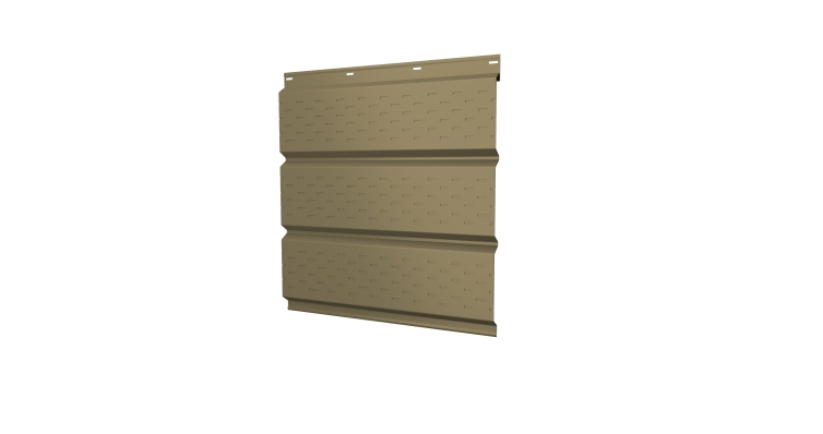 Софит металлический полная перфорация 0,45 PE с пленкой RAL 1014