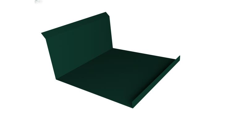 Планка примыкания нижняя 20х122х260х15 0,45 PE с пленкой RAL 6005