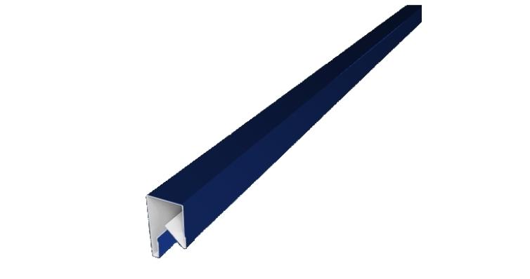Планка П-образная заборная 17 0,45 PE с пленкой RAL 5002