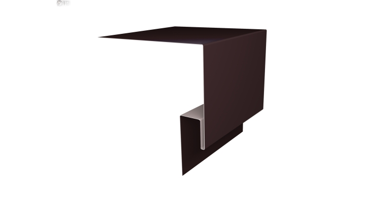 Планка околооконная сложная Блок-хаус GL 200х75 0,5 Quarzit с пленкой RAL 8017