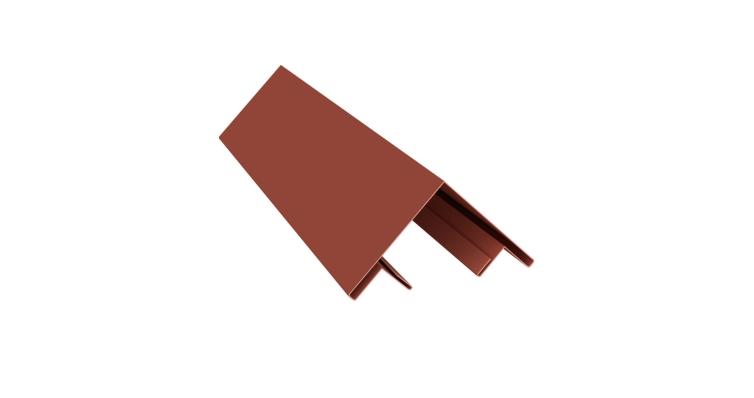 Планка угла внешнего составная верхняя 0,5 Satin с пленкой RAL 8004