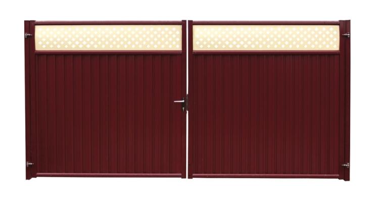 Ворота Премиум Плюс 2,0х3,6 RAL 3005/1014