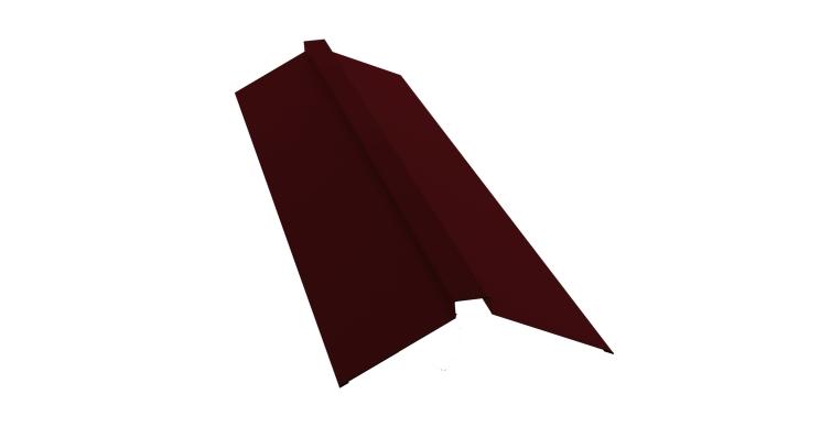 Планка конька плоского 150х40х150 0,5 Satin с пленкой RAL 3005