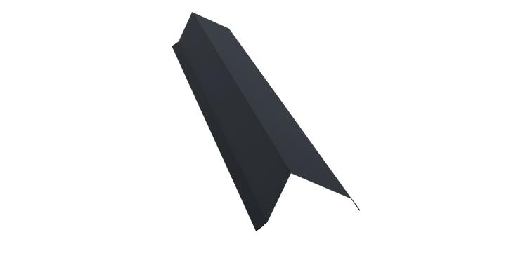 Планка торцевая 100х80 0,5 Quarzit lite с пленкой RAL 7024