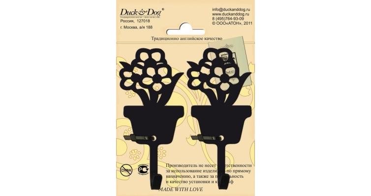 Крючок-сплит Duck & Dog №02 Цветы в горшке