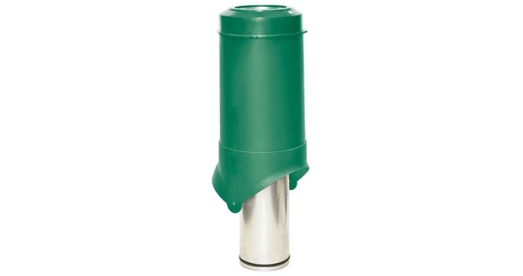 Выход вентиляции Krovent Pipe-VT 125 зеленый