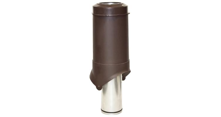 Выход вентиляции Krovent Pipe-VT 125 коричневый