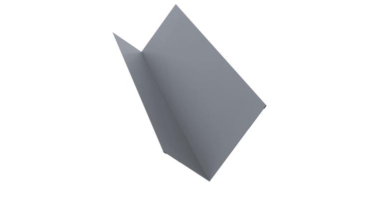 Планка примыкания 150х250 0,5 Satin с пленкой RAL 9006