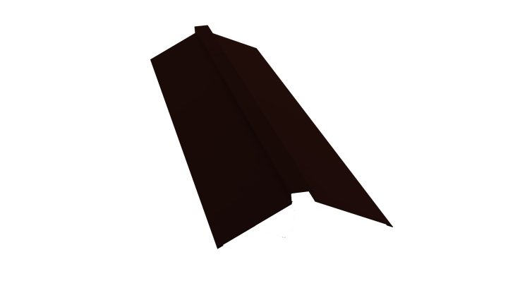 Планка конька плоского 115х30х115 0,45 PE с пленкой RR 32