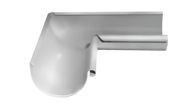 Угол желоба внутренний, 90 гр,125 мм RAL 9003