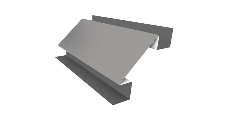 Угол внутренний сложный 75х75 0,5 Satin с пленкой RAL 9003