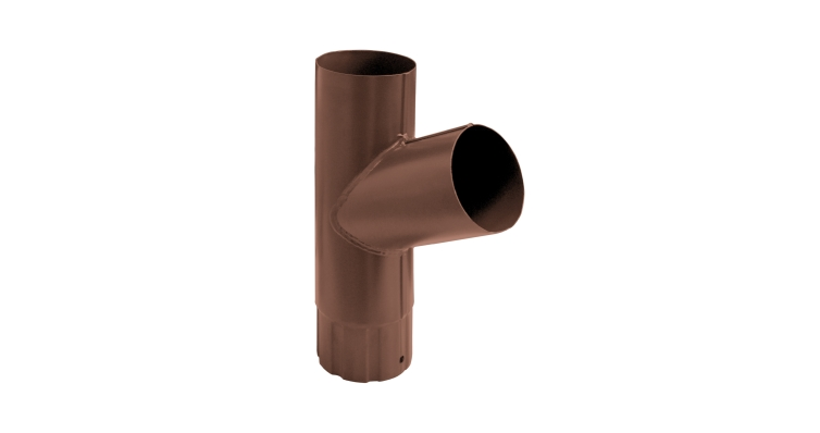 Тройник трубы,90 мм RAL 8004