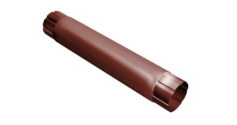 Труба круглая соединит.,90мм 1м RAL 8004