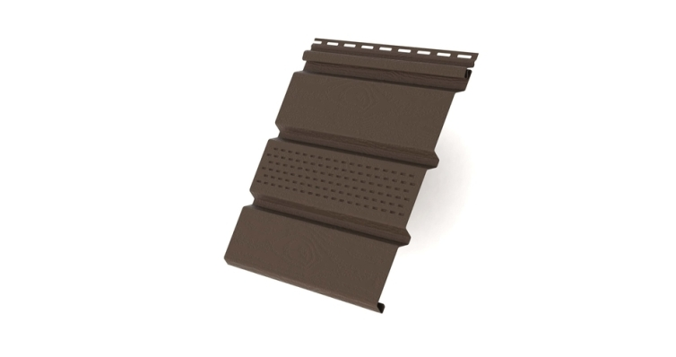 Софит T4 частично перфорированный GL Amerika 3,0 коричневый