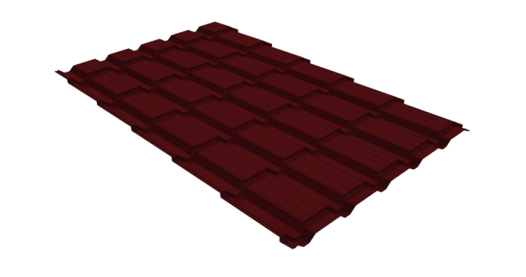 Металлочерепица квадро GL 0,5 Velur20 RAL 3005