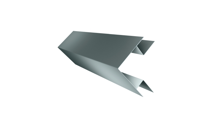Планка угла внешнего сложного Экобрус GL 0,45 PE с пленкой RAL 7005
