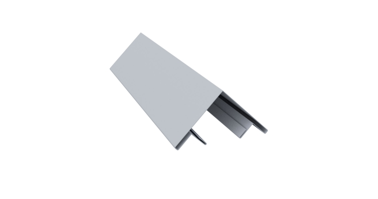 Планка угла внешнего составная верхняя 0,45 PE с пленкой RAL 9006