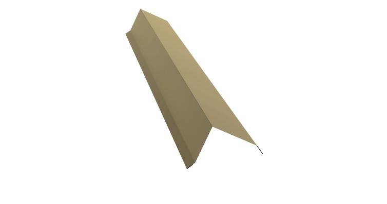 Планка торцевая 100х80 0,45 PE с пленкой RAL 1014
