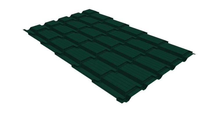 Металлочерепица квадро GL 0,5 Velur20 RAL 6005