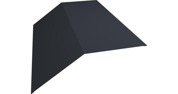 Планка конька плоского 145х145 0,5 Quarzit lite с пленкой RAL 7024