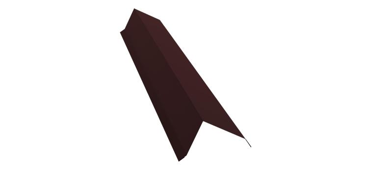 Планка торцевая 100х80 0,5 Quarzit с пленкой RAL 8017