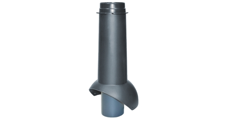 Выход канализации Krovent Pipe-VT 110 черный