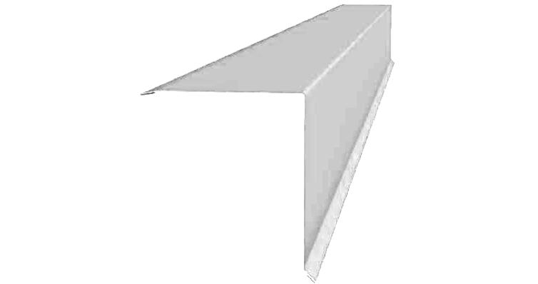 Планка конька односкатной кровли 160x160 0,45 Zn