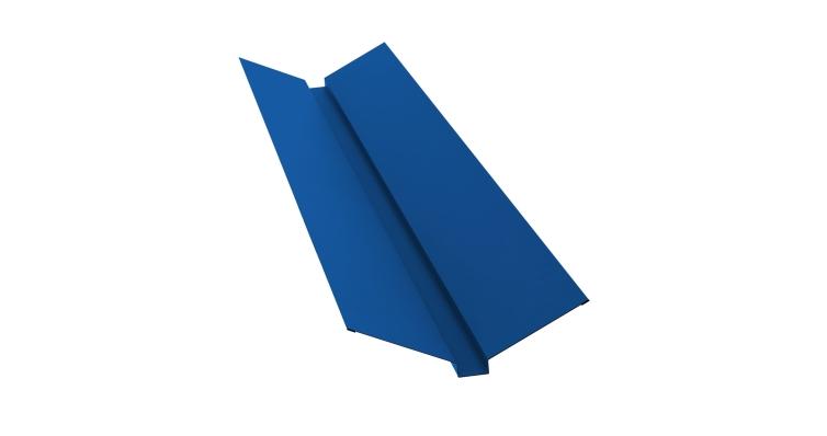 Планка ендовы верхней 115х30х115 0,5 Satin с пленкой RAL 5005