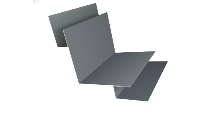 Планка угла внутреннего сложная 90 0,45 PE с пленкой RAL 7005