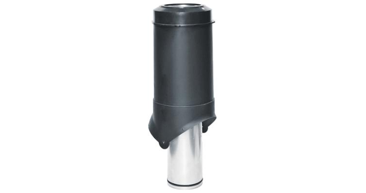 Выход вентиляции Krovent Pipe-VT 125 черный