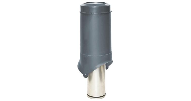 Выход вентиляции Krovent Pipe-VT 125 серый