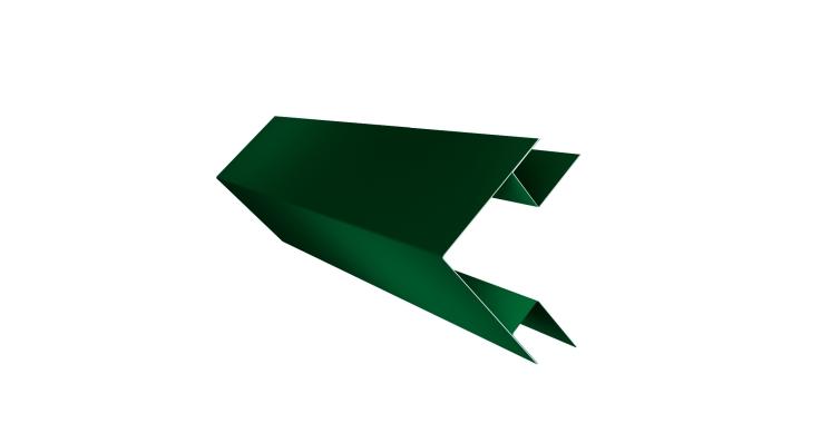 Планка угла внешнего сложного Экобрус 0,5 Satin с пленкой RAL 6005