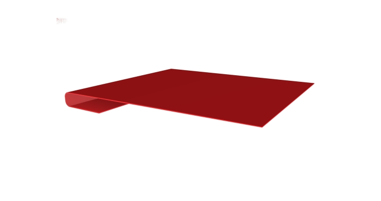 Планка завершающая 0,45 PE с пленкой RAL 3003