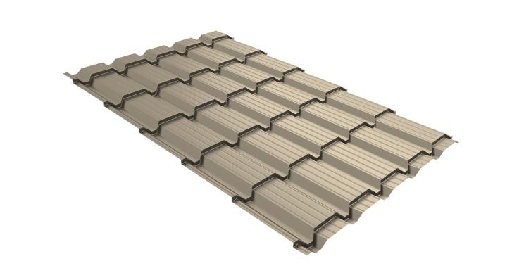 Металлочерепица квадро 0,45 PE RAL 1015