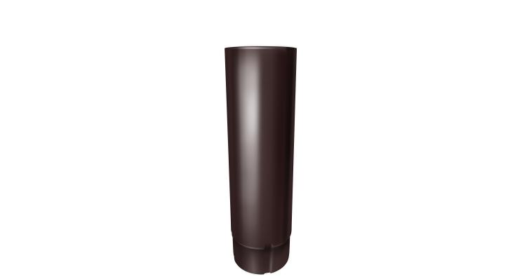 Труба круглая,100 мм 3 м RAL 8017