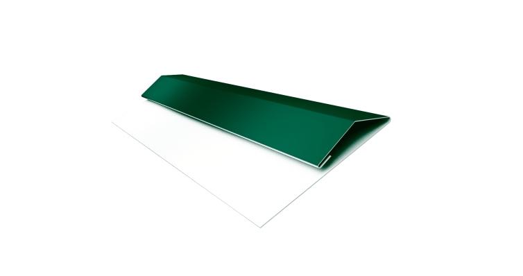 Планка стартово-финишная Блок-хаус GL 0,45 PE с пленкой RAL 6005